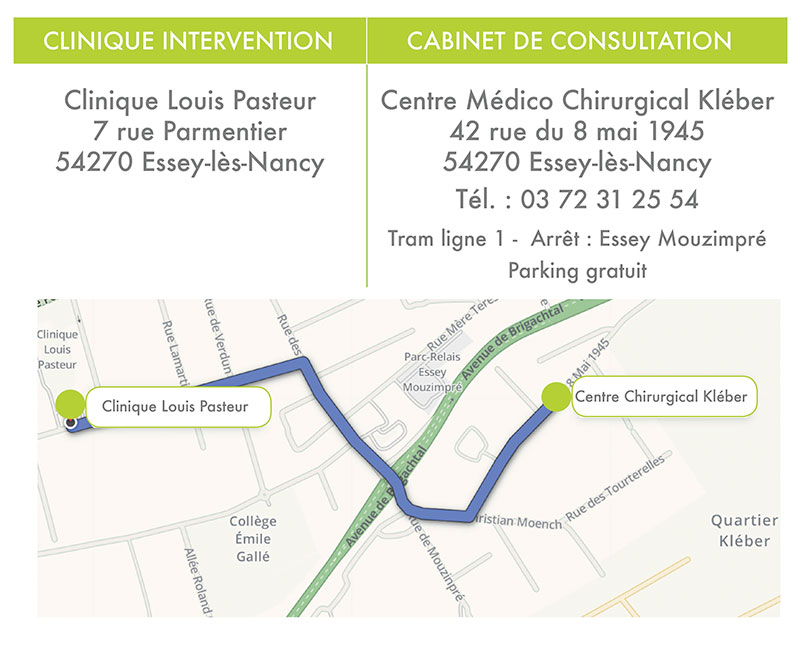 Plan d'accès dr Blaise Michel à Nancy